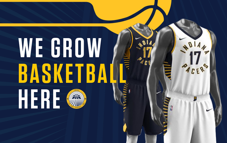 official photos 8596b 58bce Pacers unveil new jerseys, court design and secondary logo ...